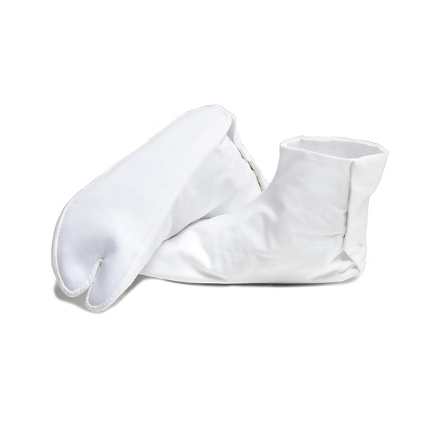 Japanese White Tabi Socks with Closure - US Size 5.5