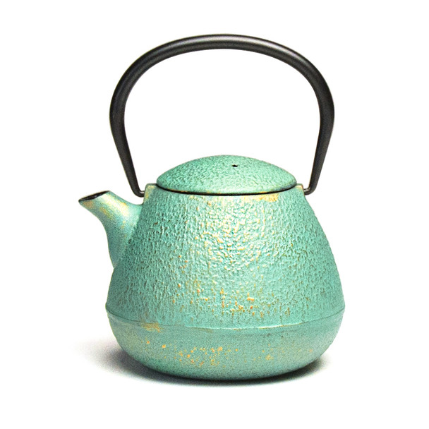 Rikyu Ground Cast Iron Teapot - Emerald