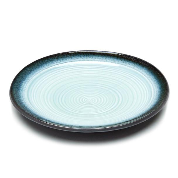 "JX Blue Gradient Round Dinner Plate 10""D - Set of 5"