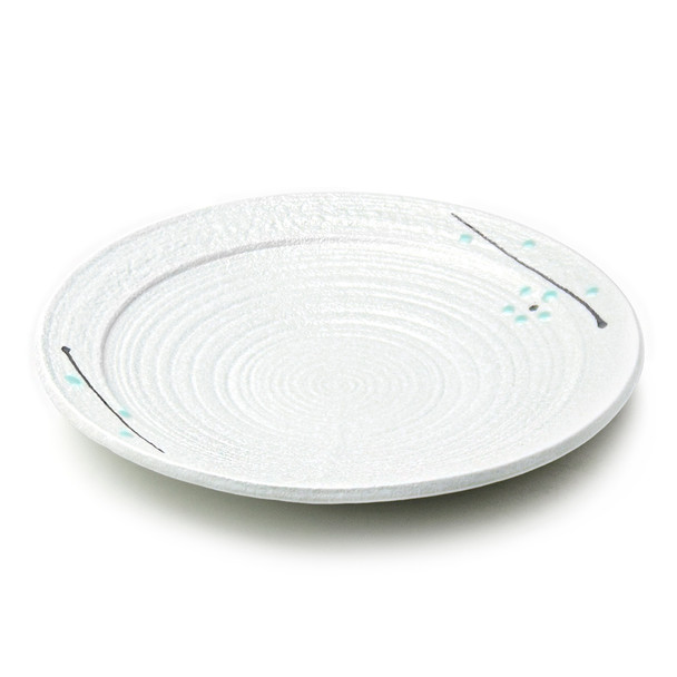 """JX  White Branch Round Dinner Plate 10""""D - Set of 5"""