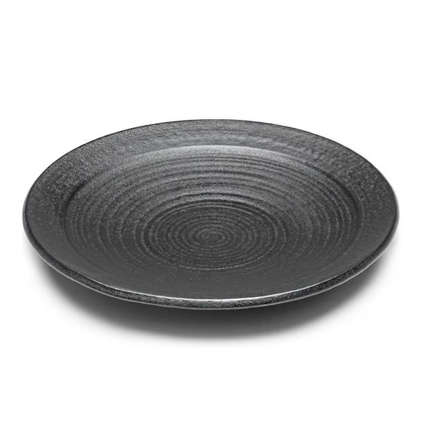 "JX Black Round Dinner Plate 10""D - Set of 5"