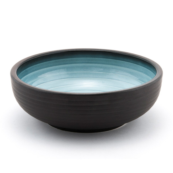 "JX Blue Gradient Black Noodle Bowl 8"" - Set of 5"