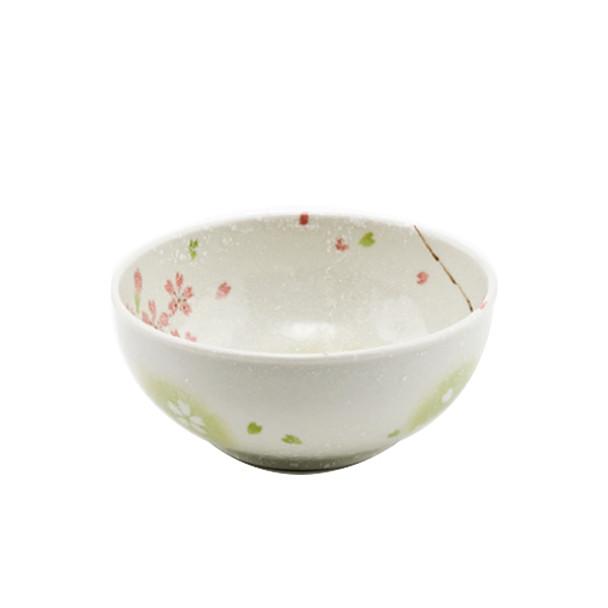 """Japanese Spring Bloom Bowls, Set of 4, 6.25""""D"""