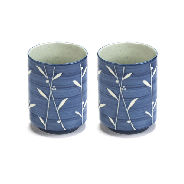 Japanese Teacup Blue & White Set of 2 - Kan