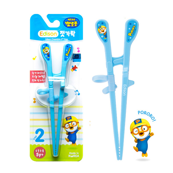 "Edison Pororo Chopstick II for Right Handed 7"", Blue"
