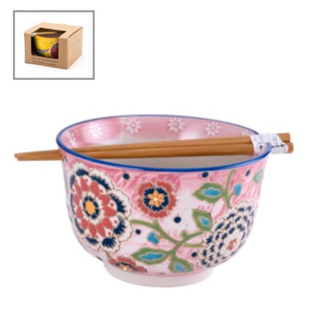Blooming Bowl w/ Chopstick - Pink