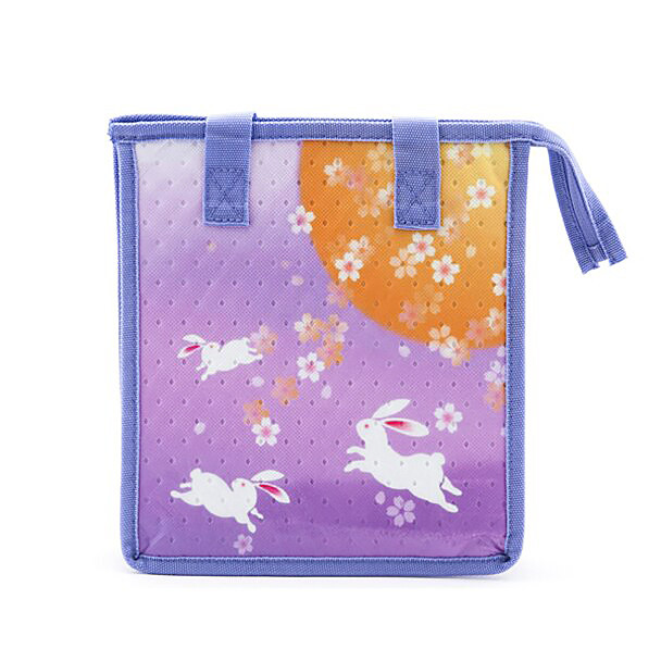 "Insulated Lunch Bag with Zipper 10.25"" x 6.5"" x 11"" - Moon Rabbit"