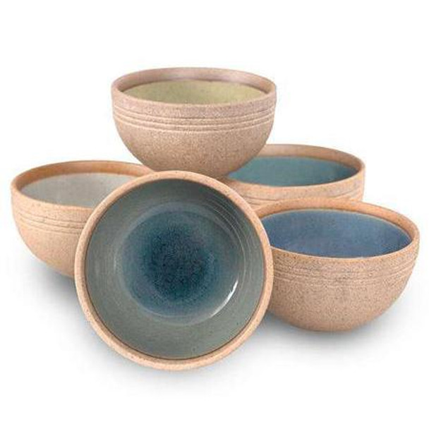 Feather Crackle Sauce Bowl Set