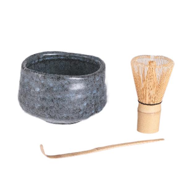 Matcha Set, Matcha Chawan Bowl, Whisk and Spoon - Grey