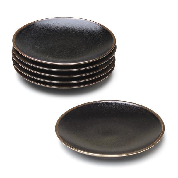 """Black Salad Plate Set - 8.75"""""""
