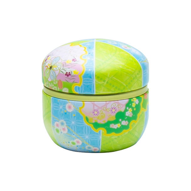 "Blue & Green Japanese Tea Canister 3""x3""H"