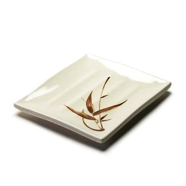 "Melamine Rectangle Plate, 12pc, 8""x7"" (Autumn Grass)"