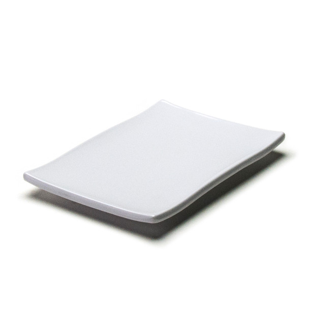 "Melamine Rectangle Plate, 12pc, 8""x5-1/2"" (White)"
