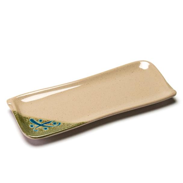 "Melamine Rectangle Plate, 12pc, 10""x4"" (Green)"