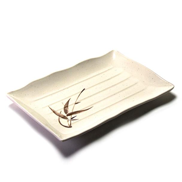 "Melamine Rectangle Plate, 12pc, 13-1/2""x9"" (Autumn Grass)"