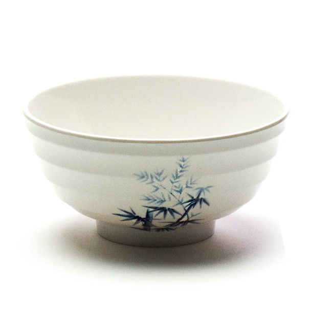 "Melamine Udon Bowl, 6pc, 7""D (Elegant Blue Bamboo)"
