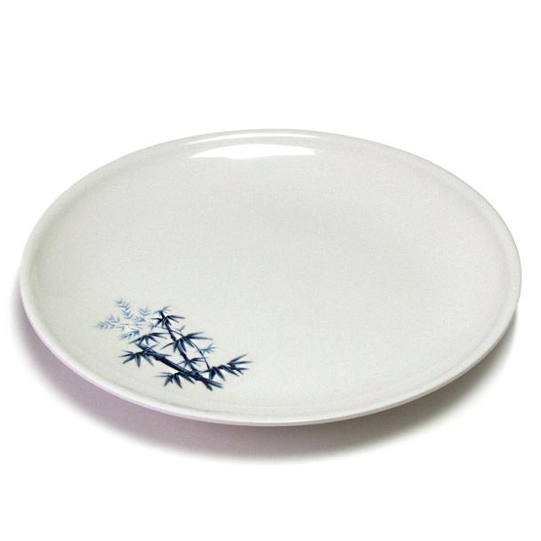 """Melamine Dinner Plate, 12pc, 11-1/2""""D (Elegant Blue Bamboo)"""