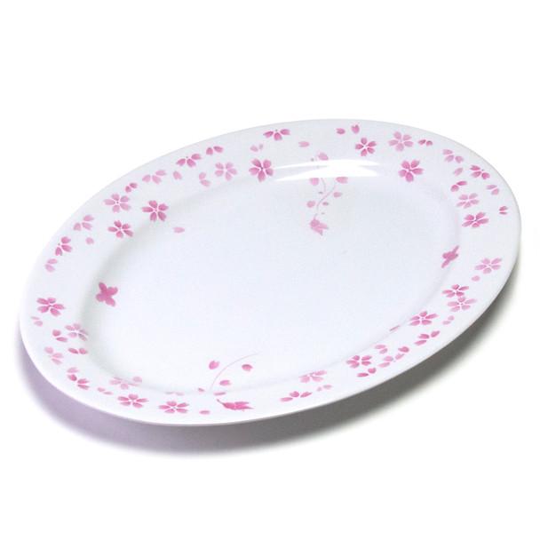 """Melamine Oval Platter, 6pc, 16"""" (Cherry Blossom)"""