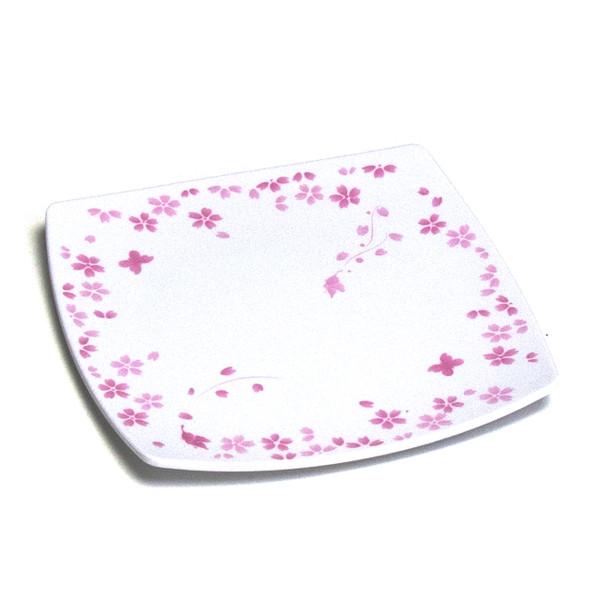 """Melamine Square Plate, 12pc, 7.25"""" (Cherry Blossom)"""