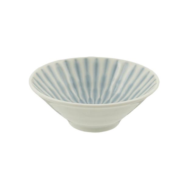 """White & Blue Stripe Bowl 6pc Set, 4""""D x 1.5""""H"""