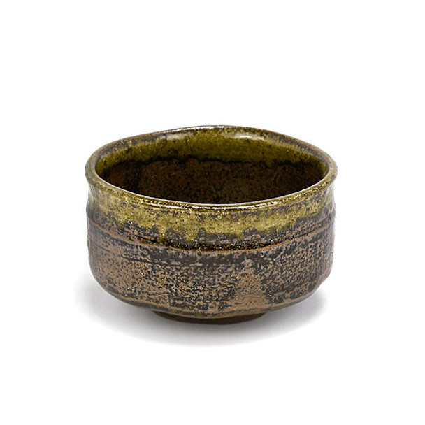 """Handcrafted Matcha Bowl 5""""Dx3.25""""H, Gold Brown"""