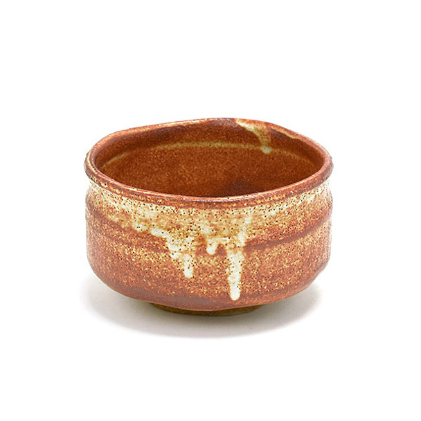 """Handcrafted Matcha Bowl 5""""Dx3.25""""H, Red Brown"""