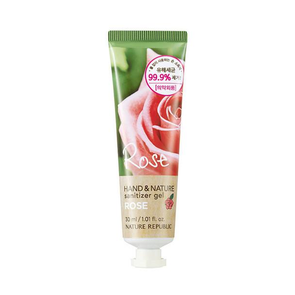 Nature Republic Hand & Nature Hand Sanitizer Gel Tube 1oz (Rose)
