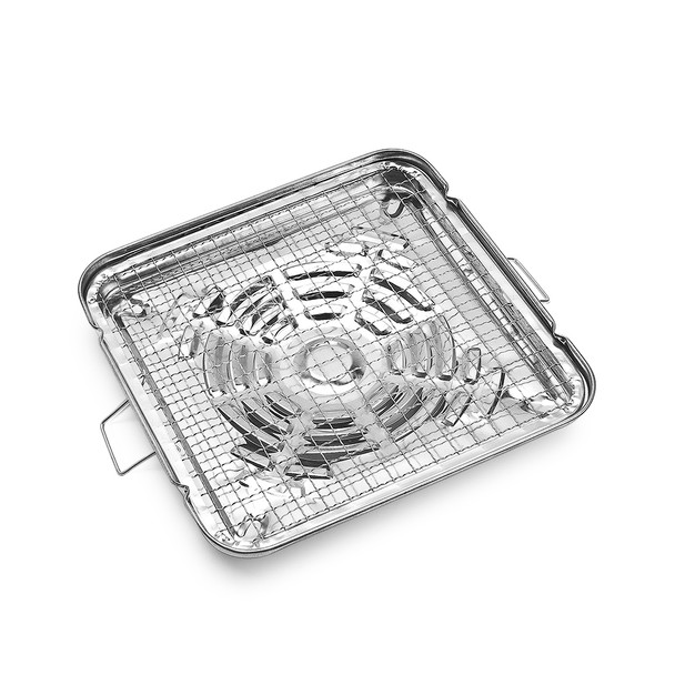"""Stainless Steel Square Grill Broiler 9-3/4"""""""