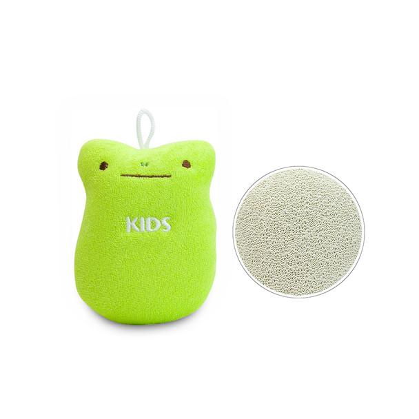 KIDS Cotton Body Sponge - Green