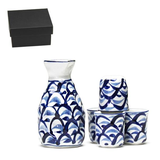 Blue Mountain 5pc Sake Set, Serving 4