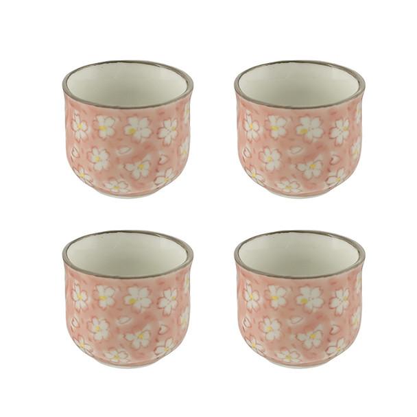 """Petite Flower Sake Cup 1.5""""H, Set of 4"""