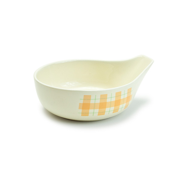 "Checkered Tempura Sauce Bowl 6""D, Set of 4"