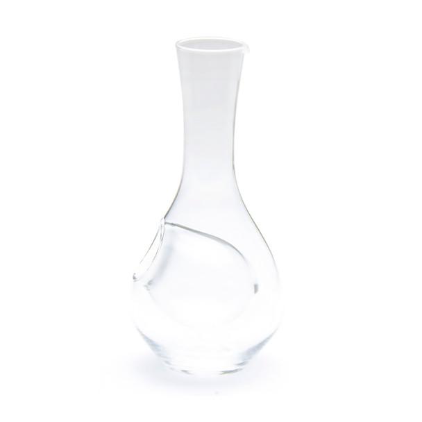Clear Bulb Glass Sake Bottle