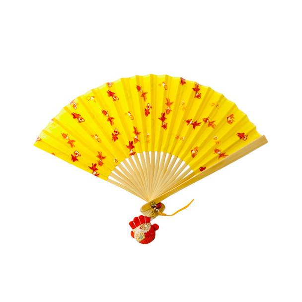 Goldfish Folding Fan with Ornament