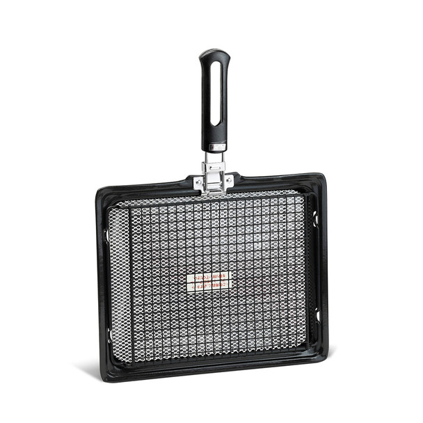 """Square Iron Roaster with Screen 12.25""""x10"""""""