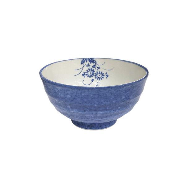 """Blue Flower Noodle Bowl 6-7/8""""D"""
