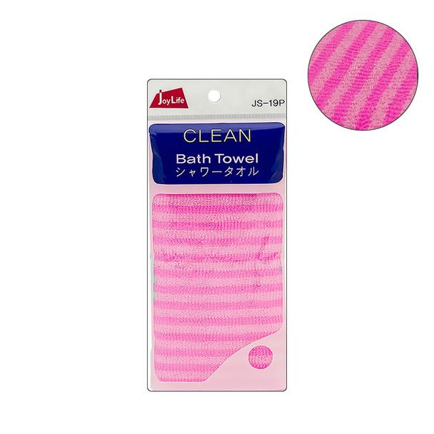 JoyLife BEST Bath Towel Body Wash Cloth 3-pack Pink