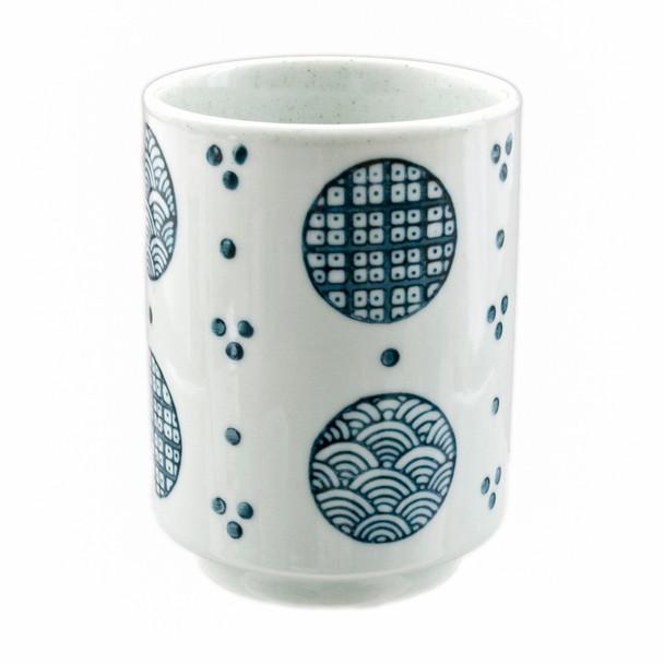 Blue & White Asian Teacup - Round Window