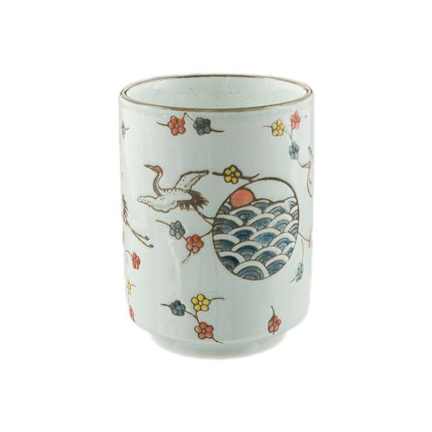 White Teacup - Flying Crane