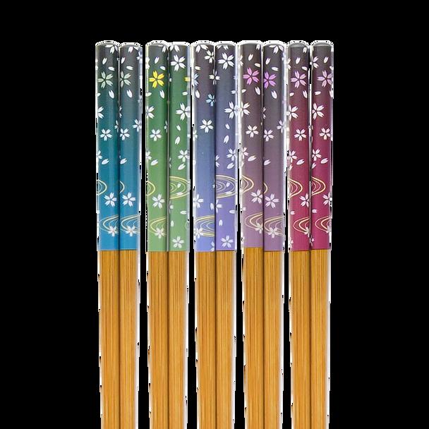 Falling Flower Chopsticks, Set of 5