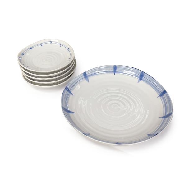 Kansai Yamamoto Blue & White Plates Set 6pc