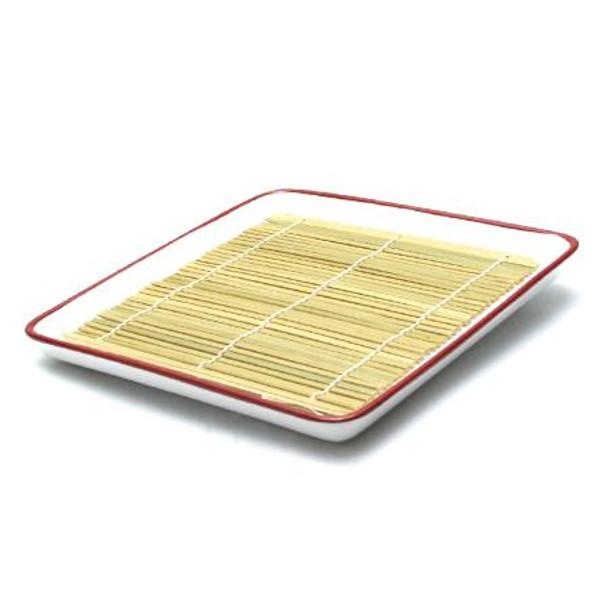 White Ceramic Soba Plate