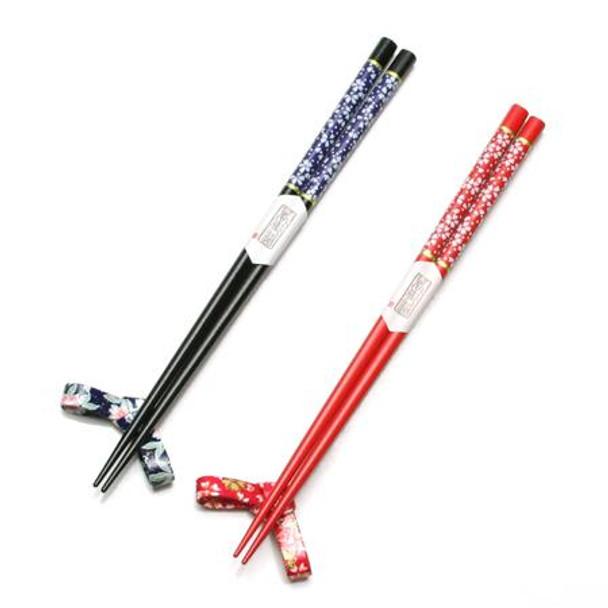 Hanamuko Hanayome Chopsticks and Rest Set
