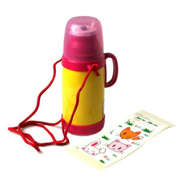 Pink Vacuum Bottle with Custom Sticker