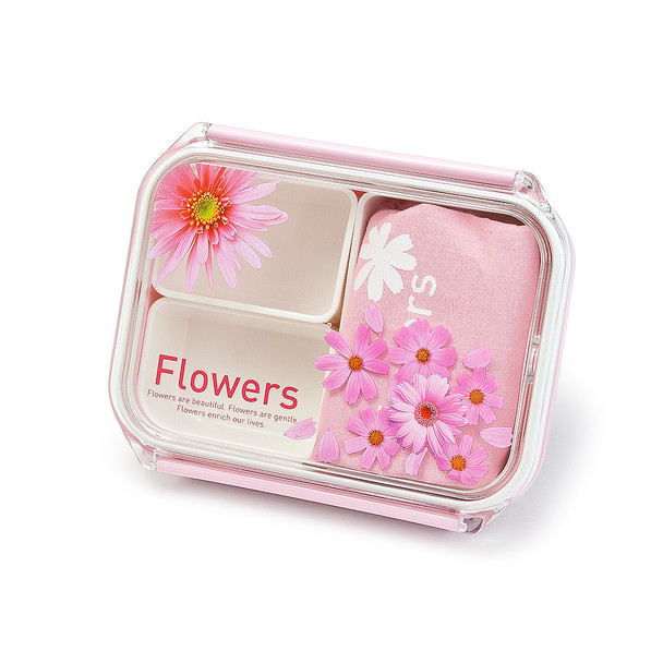 Flowers Lunch Box w/ Bag
