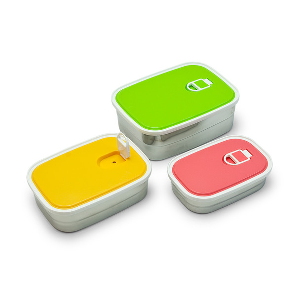 Pia Colore Stainless Steel Containers-3pcs