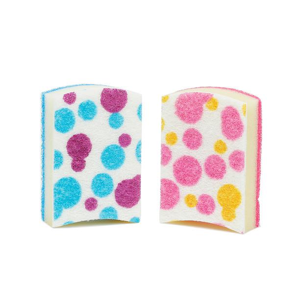 Polka Dotted Kitchen Sponge - 4pcs