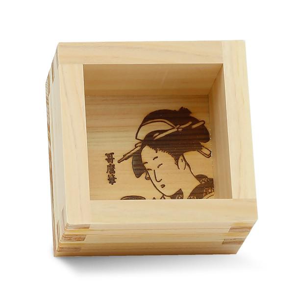 """Wooden Masu Cup 3.4"""" - Geisha"""