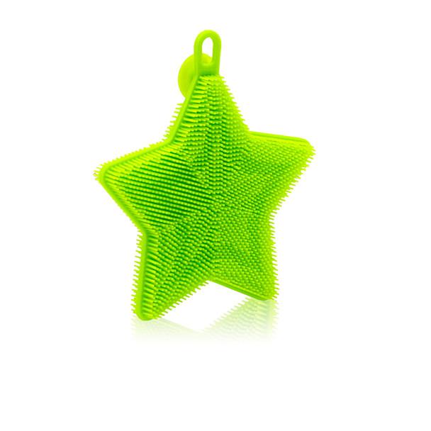 Silicone Dishwash Scrubber - Green Star