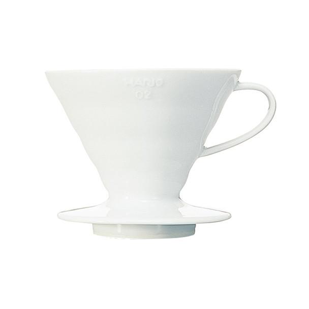 Hario V60 Ceramic Coffee Drippers (White)